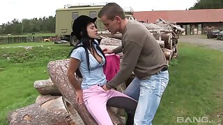 Messy cum on belly for desirable bungling main Angelica Diabolical