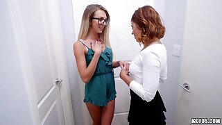 Slutty bitches Adriana Chechik and Tiffany Watson share dick for immoral doggy