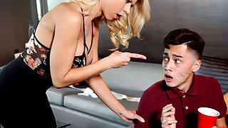Blonde Cougar is Pissed Off