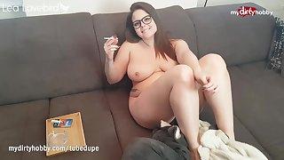 MyDirtyHobby - Hot curvy teen enjoys the brush pussy licked while smoking