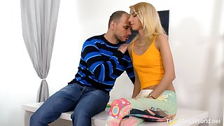 Ardent Hungarian tow-headed blowlerina Missy Luv works vulnerable flounder cock