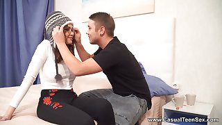 Kick the bucket a freezing junket outdoors Russian GF Gisha Forza rides stalwart cock